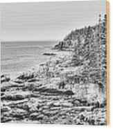 Acadia National Park In Bw Wood Print