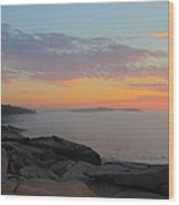Acadia Sunrise 5 Wood Print