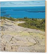 Acadia Views Wood Print