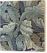 Acanthus Leaf Design Wood Print by William Morris