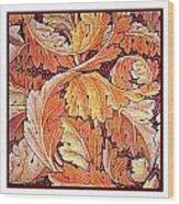 Acanthus Vine Design Wood Print by William Morris