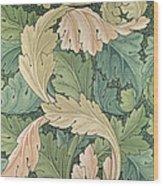 Acanthus Wallpaper Design Wood Print