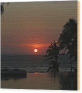 Acapulco Red Wood Print