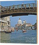 Accademia Bridge In Venice Italy Wood Print