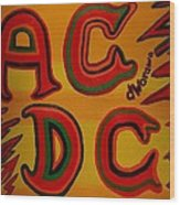 Acdc Wood Print