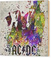 Acdc In Color Wood Print