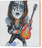 Ace Frehley Wood Print by Art