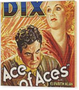 Ace Of Aces, Us Poster Art, From Left Wood Print