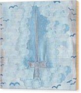 Ace Of Swords Wood Print