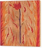 Ace Of Wands Wood Print