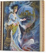 Achaemenian Lady Persian Miniature Painting  Wood Print
