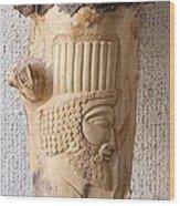 Achaemenian Soldier Relief Sculpture Wood Work Wood Print