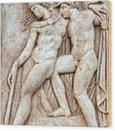 Achilles And Penthesilea Wood Print
