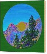 Acid Desert Orb 2 Wood Print