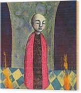 Acolyte With Fire Pots Wood Print
