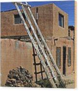 Acoma Pueblo Adobe Homes 3 Wood Print