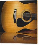Acoustic Guitar Reflected Wood Print