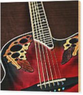 Acoustical Red Wood Print