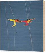 Acrobats  Wood Print