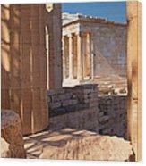 Acropolis Temple Wood Print