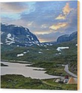 Across Scandinavian Mountains Wood Print