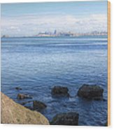 Across The Bay Wood Print by JC Findley