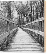 Across The Bridge Wood Print