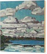 Across The Cataraqui Wood Print