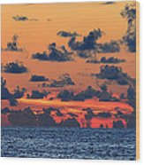 Across The Great Blue Waters Wood Print