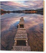 Across The Water Wood Print by John Farnan