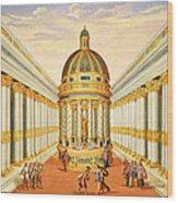 Bacchus Temple Wood Print