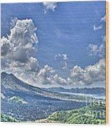 Active Volcano  Wood Print