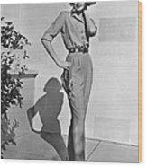 Actress Grace Kelly Wood Print