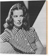 Actress Katharine Hepburn Wood Print