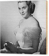 Actress Patricia Neal Wood Print
