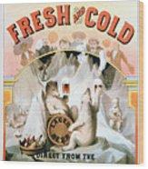 Ad Beer, C1877 Wood Print