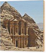 Ad Deir In Petra Wood Print