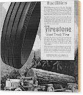 Ad Firestone, 1918 Wood Print