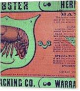 Ad Lobster, C1867 Wood Print