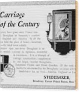 Ad Studebaker Carriages Wood Print