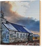 Adak Alaska Church Wood Print