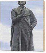 Adam Black Statue And Friend Wood Print by Mike McGlothlen