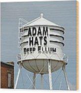 Adam Hats In Deep Ellum Wood Print
