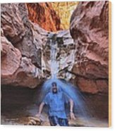 Adam Jewell At Capitol Reef Shower And Laundromat Wood Print by Adam Jewell