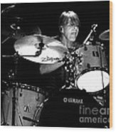 Adam Woods - Drummer - The Fixx Wood Print by Anthony Gordon Photography