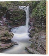 Adams Falls As Nightfall Approaches Wood Print