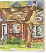 Adams Home Wood Print by Kip DeVore