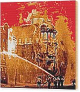 Adams Hotel Fire 1910 Phoenix Arizona 1910-2012 Wood Print