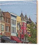 Adams Morgan Neighborhood In Washington D.c. Wood Print