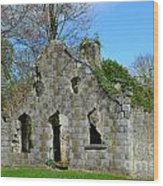 Adare Chapel Ruins Wood Print
